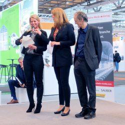 Daniela Stack (Deutsche Messe AG) verliest Sieger