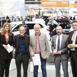 Fahrweg und Infrastruktur_Moderatorin Manuela Stamm, Prof Dr Uwe Höft, Johannes Bartolomä (Strail), Andreas Göschl (Strail) und Rüdiger Malter (Geschäftsführer NASA)